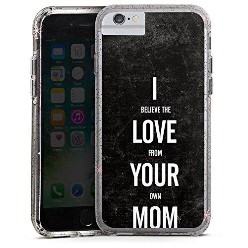Apple iPhone 6 Bumper Hülle Bumper Case Glitzer Hülle Mama Humor Amour Bumper Case Glitzer rose gold