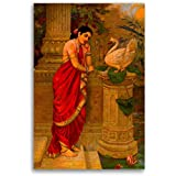Tamatina Raja Ravi Varma Canvas Paintings - Hamsa Damyanthi - Academic Art - Paintings For Home Decor - Paintings For Bedroom - Paintings For Living Room - Indian Canvas Paintings - Paintings For Wall - Raja Ravi Verma Paintings