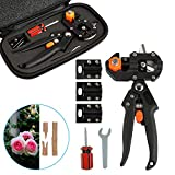 LEADSTAR Kit Innesto, Garden Grafting Tool, Professionale Efficiente Giardino Innesto Kit di Attrezzi per Potatura e Innesto, Garden Fruit Tree Pianta Vine Forbici, Set di Attrezzi con Gift Box Nero