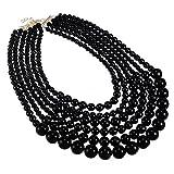 Jerollin moda mujeres declaraci¨n cadena collar babero elegante collar