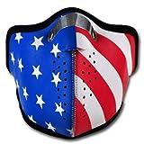 WINDMASK Neopren Biker Motorrad Maske Sturmmaske Skimaske - USA Amerika, Größe:M - Medium