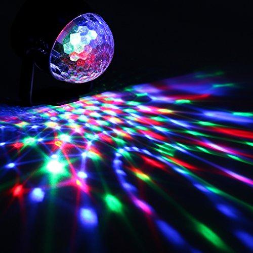 Missyee® Mini Disco Licht DJ Licht Partylicht Bühnenbeleuchtung RGB kristall Magic Ball Lichter Wirkung Bühnenlicht Für KTV Xmas Party Hochzeit Zeigen Club Pub Farbe Weihnachten Beleuchtung mit Fernbedienung(1pack) - 6