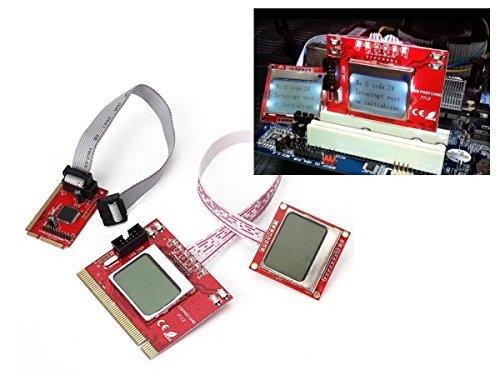 Kalea Informatique Multifunktions-Tester für Mainboards mit LCD-Display–Schnittstellen PC Notebooks und Desktop-PCs: PCI/Mini PCI/Mini PCIe/LPC–Version Eco
