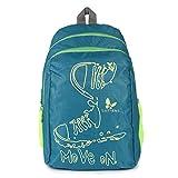 #10: Lutyens Polyester Green Lime School Bags (17 Liters) (Lutyens_197)