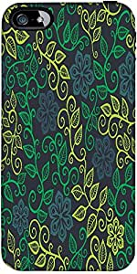 Snoogg A Seamless Leaf Pattern Designer Case Cover For Apple Iphone 5 / 5S