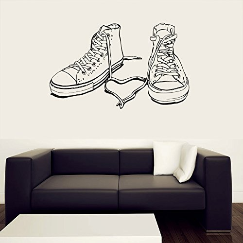 Wall Decal Vinyl Sticker Decals Art Decor Sneakers Hippster Shoes Boots Couple Heart Kids Children Love Family Bedroom Modern Fashion (r405) by CreativeWallDecals