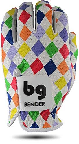 Bender Handschuhe Mesh Golf Handschuhe für Herren Cabretta Leder Links getragen, Argyle, Medium -