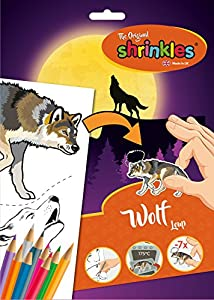 Shrinkles Shrinkles-WZ070 wz070 Original World Wildlife Lobo Slim Pack, Color Desconocido (Keycraft