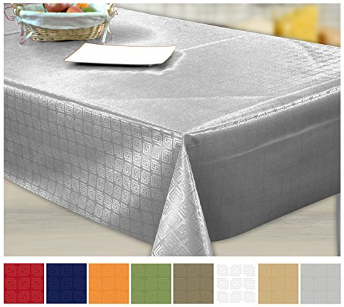 14 95 nappe toile cire pvc rectangulaire 140 x 200 cm uni gris. Black Bedroom Furniture Sets. Home Design Ideas