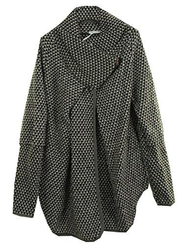 Schulter Cape (GG Frauen Damen Italian Lagenlook Quirky Schicht Wool Zip Langarm-Cocoon-Mantel-Jacken Poncho Cape Oversize)
