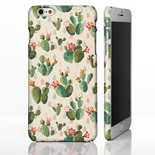 Hawaiian Floral Tropical Luau Party Handyhüllen für iPhone Modelle, Exotic Cactus, Hibiskus, Flamingo, Palm Spring Designs von iCaseDesigner, 23: Cactus in Pots on Teal Chevrons, iPhone 6+ / 6S+ Plus  24: Cactus and Coloured Drops on Cream