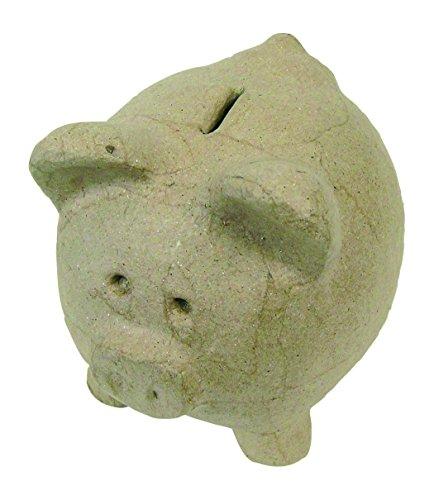 Decopatch ac108o 9,5cm hoch Pig Form Spardose, Pappmaché braun (Möglichkeiten, Spaß Um Halloween-dekorationen)