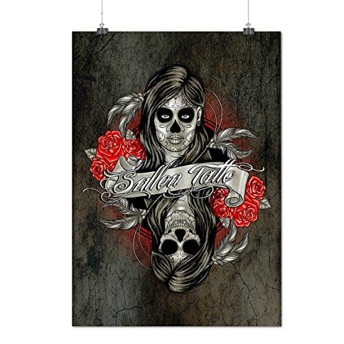 Zombie schaurig Mädchen Horror Mattes/Glänzende Plakat A3 (42cm x 30cm) | Wellcoda