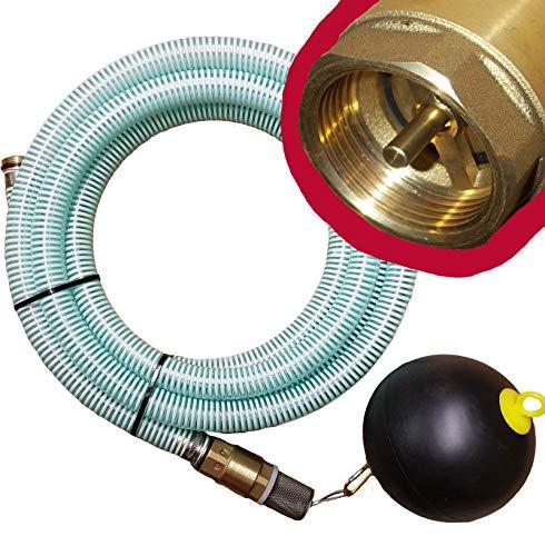 """Brunnenandi Saugschlauch 1\"""" versch. Längen_-=-_ für Elektropumpen Hauswasserwerk, Hauswasserautomat fördern aus Brunnen o. Regentonne geeignet_-=-_ Saugschläuche + Schwimmerventil -=- (**z.B. 12m**)"""