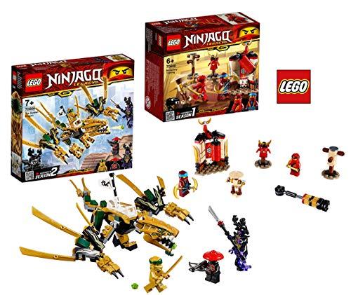LEGO Ninjago 70666 Goldener Drache Ninjago 70680 Ninja Tempeltraining (Golden Ninjago Lego)