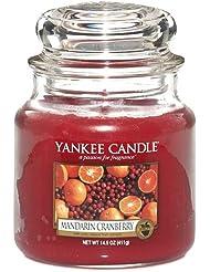 Yankee Candle Bougie Parfumée Mandarine et canneberge, rouge, Taille M