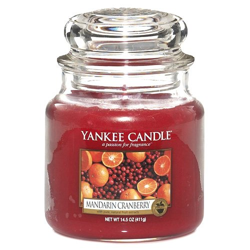 Mandarin Cranberry Yankee Candle (Yankee Candle 1053155 Mandarin Cranberry mittleres Jar)