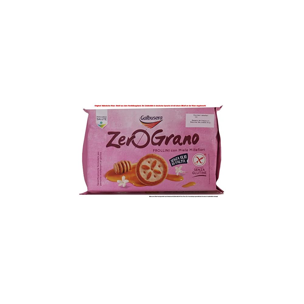 Galbusera Zero Grano Frollini Con Miele Millefiori 4 X 260g 1040g Kekse Mit Bltenhonig Ohne Gluten Und Ohne Palml