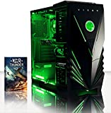 Vibox VBX-PC-2254 Sharp Shooter Ti 29 Gaming Desktop-PC (AMD A Series A4-7300, 8GB RAM, 2TB HDD, NVIDIA Geforce GTX 750 Ti, kein Betriebssystem) grün
