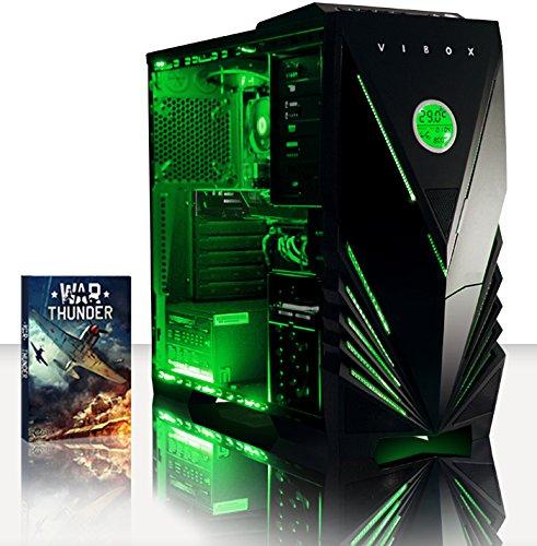 VIBOX CYGNUS 27 GAMING PC - 4 0GHZ CPU 4-CORE AMD  GPUGTX1050  AVANZADO  ORDENADOR DE SOBREMESA PARA OFICINA GAMING VALE DE JUEGO  CON UNIDAD CENTRAL  ILUMINACIàNINTERNA VERDE (3 8GHZ (4 0GHZ TURBO) PROCESADOR CPU QUAD 4-CORE AMD FX 4300  NVIDIA GEFORCEGTX1050 2 GB TARJETAGRAFICAGPU  8 GB MEMORIA RAM DE DDR3  VELOCIDAD DE RAM: 1600MHZ  1TB(1000GB)SATAIII7200 RPMDISCODUROHDD  FUENTE DE ALIMENTACIàN DE 85 +PSU 400W  PREDATOR DE VIBOXLEDVERDECAJA  NINGUN SISTEMA OPERATIVO)