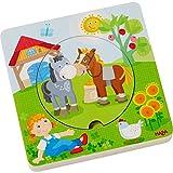 Haba 303768 Holzpuzzle Bauernhof-Welt