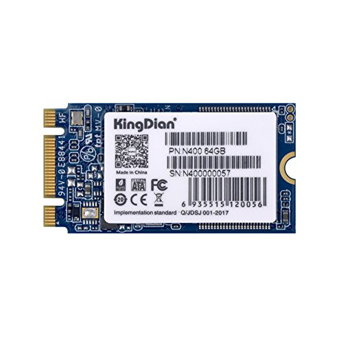 KingDian M.2 2242 64GB NGFF Interne SSD-Festplatte für Desktop-PCs (N400, 64 GB)