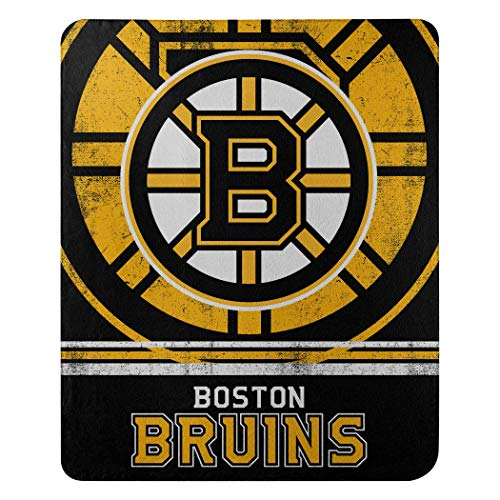NHL Fade Away Fleece Decke 152 x 127 cm, schwarz