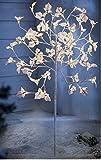 LED Lichterbaum weiß 120 cm 60 warmweiße LEDS Leuichtbaum Lichterzweige beleuchtet Außen- und Innenbeleuchtung, leuchtender Dekobaum