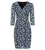 zero Damen Kleid mit Blumenmuster 413889 black 38