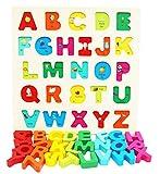 Toys of Wood Oxford Blocchi alfabeto in legno - puzzle lettere colorate in legno - giocattoli educativi di apprendimento precoce per bambini