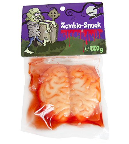 Horror Halloween schauriges Fruchtgummi Süßigkeit Gehirn 120g Zombie Snack mit Blutsoße