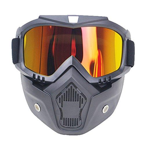 Blusea Retro Halbhelm Fahrradhelm Abnehmbare Schutzbrille Glas Maske Winddicht Rode Moto Cross Helme Maske -