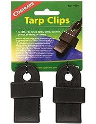 Coghlans Tarp Clips - Accesorio para tienda de campaña, color negro