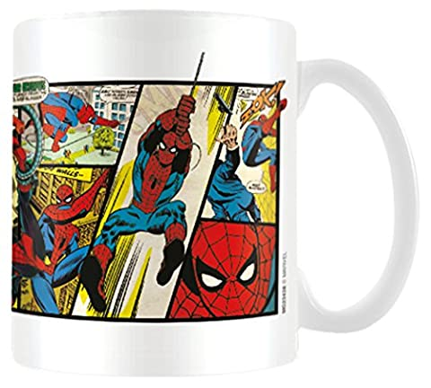 Marvel MG23438 Tasse en céramique bande dessinée Spiderman rétro 8 x 11,5 x 9,5 cm Multicolore