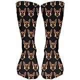 YL Unisex German Shepherd Head Pattern Cotton Crew Socks Shoe US Sizes 6-10