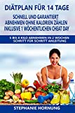 Diätplan für 14 Tage - schnell und ohne Hungern abnehmen, ohne Kalorienzählen - inklusive 1 wöchentlichen Cheat Day: 5 bis 8 Kilo Abnehmen in 2 Wochen - Schritt für Schritt Anleitung