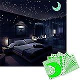 Beoankit Glow in the Dark Stickers d'Etoiles pour Plafonds et Murs, Kit de Stickers Lumineux pour Décorations de Chambres d'enfants, Brillant et Réaliste...