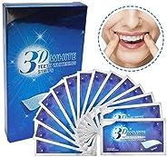 28Pcs Teeth Whitening Strips, Bleaching Strip Professional 3D Professional Non-Slip Teeth Whitening Kit