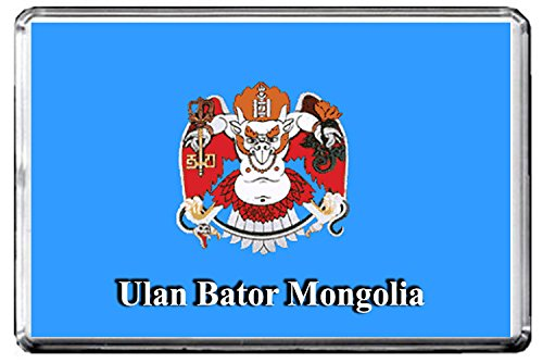 A117 ULAN BATOR FLAG KÜHLSCHRANKMAGNET CITY OF MONGOLIA REFRIGERATOR MAGNET