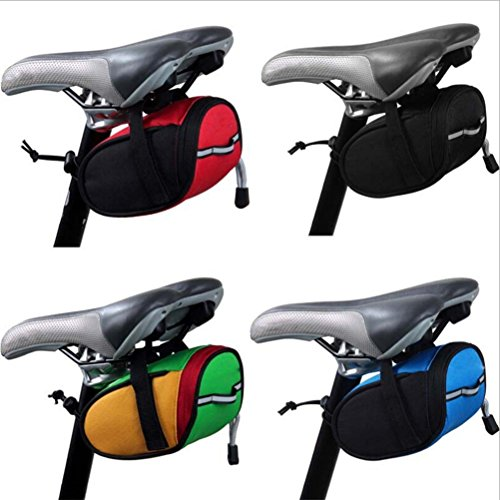 PIXNOR Satteltasche Wasserdicht Fahrradtasche mit Reflexstreifen Grün, gelb