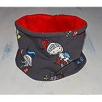 Braga de cuello ajustable con estampado de Caballeros, bufanda infinita con forro polar en la cara interna y snaps de plástico, disponible en tallas de recién nacido hasta 6 años.