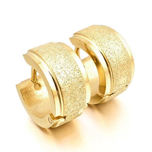 munkimix-acciaio-inossidabile-stallone-cerchio-orecchini-oro-fascino-elegante-macchia