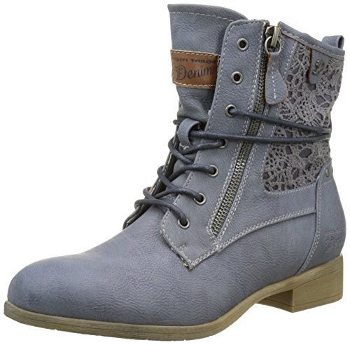TOM TAILOR Damen 2796106 Stiefel Blau (Jeans)