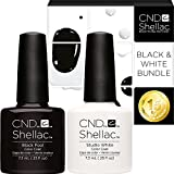 CND Shellac UV/LED Power Polish, Blackpool/Studio Weiß 7,3 ml – 2 Stück