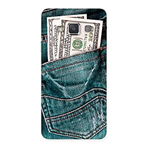 Premium Money Money Colorful Jeans Back Case Cover for Galaxy A3