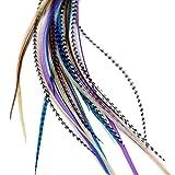 Para el pelo - para entrenador virtual de con diseño de pluma de extensión de diseño de hojas de baño de