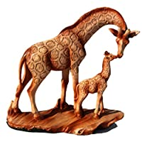 Stunning Free Standing Graceful Giraffe and Calf Decorative Ornament