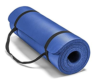 The True Mat 10mm Extra Thick NBR Foam Yoga Mat (10mm Thick; XL Size: 6 Feet x 2 Feet)