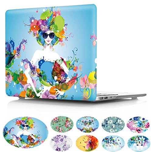 PapyHall MacBook Pro 38,1 cm Fall, MacBook Pro Fall Clear Crystal Serie Schutzhülle Hardcase für Apple MacBook Pro 38,1 cm Modell: A1286 5 Fashion Girl Crystal Clear Pro Fall