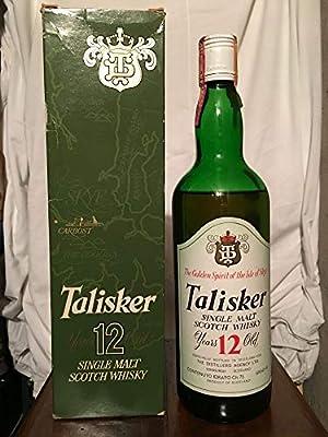 Talisker TD 12yo old bottle 1970s with case (low level) 75cl
